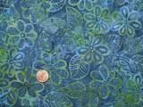 Tissu patchwork Batik bleu et vert