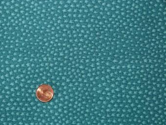 Tissu patchwork fond rbleu à motif étoiles cyan