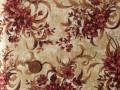 Tissu patchwork beige, marron et or