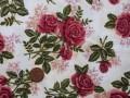 Tissu patchwork beige, vert et rose