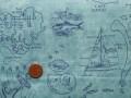 Tissu patchwork bleu