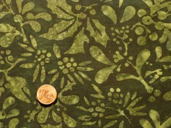 Tissu patchwork Batik vert foncé