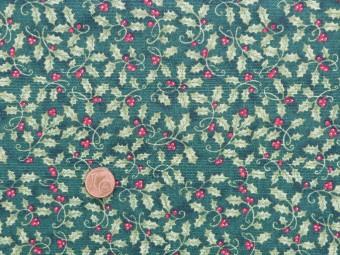 Tissu patchwork vert et rouge