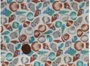 Tissu patchwork imprimé Coquillages