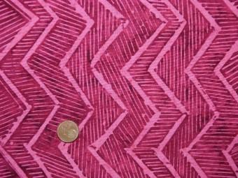 Tissu patchwork Batik rose