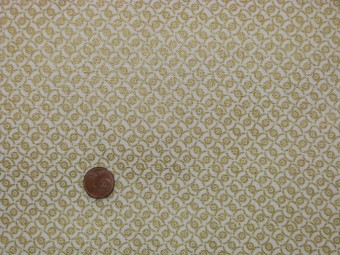 Tissu patchwork beige et or