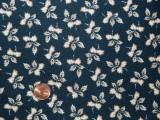 Tissu patchwork bleu et beige