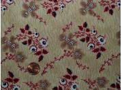 Tissu patchwork beige, rouge et bleu
