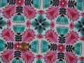 Tissu patchwork rose et bleu