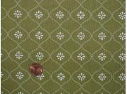 Tissu patchwork vert, beige et rouge