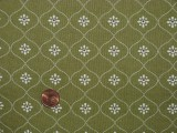 Tissu patchwork vert et beige
