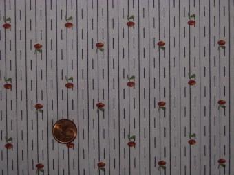 Tissu patchwork rose, noir, vert, rouge et orange