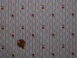 Tissu patchwork beige, vert, rouge et bleu