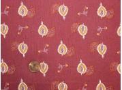 Tissu patchwork rouge, orange et beige