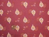 Tissu patchwork rouge et beige