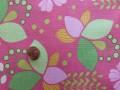 Tissu patchwork rose, vert et jaune