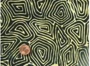 Tissu patchwork Batik noir et jaune
