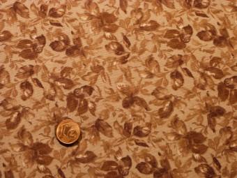 Tissu patchwork Japonais rose et marron