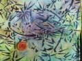 Tissu patchwork Batik vert et bleu