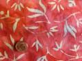 Tissu patchwork Batik roses et jaunes
