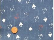 Tissu patchwork Japonais bleu, beige et rouge