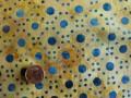 Tissu patchwork Batik jaune, orange et violet