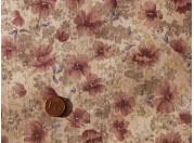 Tissu patchwork Japonais beige, rose vert et violet