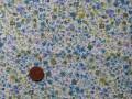 Tissu patchwork bleu, vert et violet