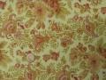 Tissu patchwork beige, rose et vert