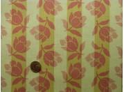 Tissu patchwork beige et rose