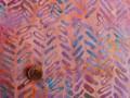 Tissu patchwork Batik rose, violet et bleu