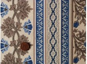 Tissu patchwork beige et bleu
