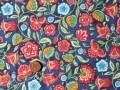Tissu patchwork bleu, rose, rouge et vert