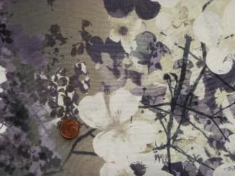 Tissu patchwork Japonais blanc, gris, violet et vert
