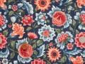 Tissu patchwork bleu, rose et vert