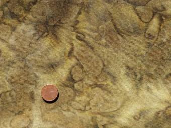 Tissu patchwork Batik vert kaki