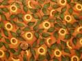Tissu patchwork rouge, vert et jaune