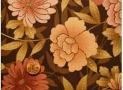 Tissu patchwork marron et rose