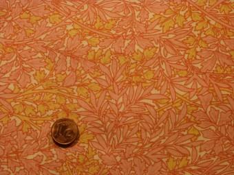 Tissu patchwork rose, jaune et beige
