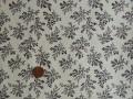 Tissu patchwork beige et marron