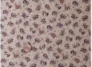 Tissu patchwork beige, rose et marron