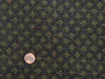 Tissu patchwork vert et blanc