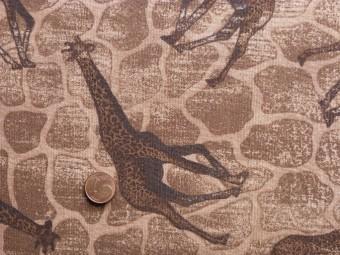 Tissu patchwork marron