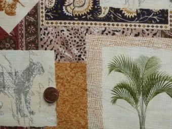 Tissu patchwork Animaux multicolor