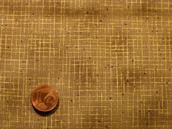 Tissu patchwork Noel marron et or