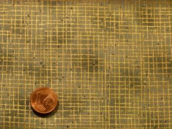 Tissu patchwork Noel gris et or